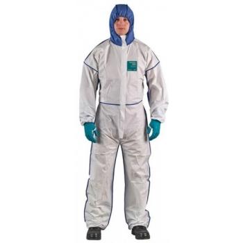 Ühekordne kombinesoon, XL valge/sinine, üleni hingav selg
