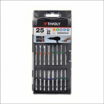 Eriotsakute komplekt värvikoodidega, 25mm ja 50mm otsikud + magnetiga otsakuhoidja. 25 osa