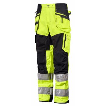 Suvised tööpüksid, koll/must, suurus 48 (S)