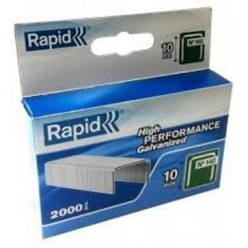 Klambrid 140/10 2000tk 10,6x1,3mm, roheline, pappkarbis, Rapid