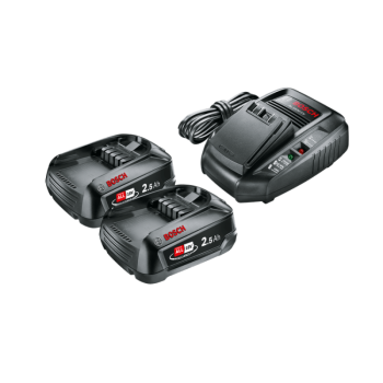 Bosch Starter Set18V(2x2,5Ah)HG Aku+Laadija AL1830CV