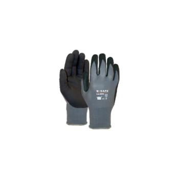 Nailon töökindad nitriil kattega M-Safe Nitri-Tech, suurus 7/S