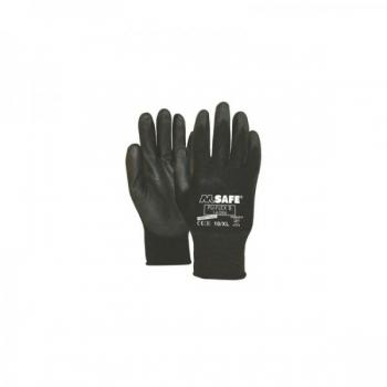 Nailon töökindad polüretaan kattega M-Safe PU-Flex B mustad, suurus 8/M