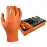 Ühekordsed nitriilkindad M-Safe Grippaz, oranžid, 11/XXL