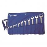 Lehtsilmusvõtmete kmpl 10-32mm 12 osa riidest kotis Irimo