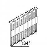 2,8X75 püstolinael täk/liim D-pea 34° KTS-1300tk