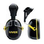 Kõrvaklapid Uvex K2H kiivrile kinnitatavad, SNR: 30dB, black/yellow