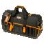 """Suletav välis- ja sisetaskutega tööriistakott plastikust põhjaga 24"""" 600x230x370mm, tühi"""