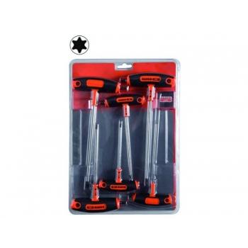 T-sabaga Torx võtmete kmpl T10;T15;T20;T25;T30;T40 6 osa