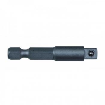 """Padrunite adapter/hoidik 1/4"""" nelikat 1/4"""" kuuskant sabaga 50mm Irimo jaepakend"""