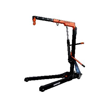 Tõstekraana max 2T, ratastel ja kokkuklapitav