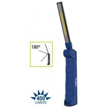 Töövalgusti LED COB+SMD 400/70lm, õhuke, liigendiga, laetav, IP20