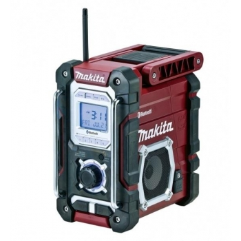 Makita raadio DMR108, bluetooth, punane