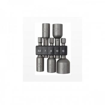 Katusekruviotsakute kmpl 5 osa 5,5/7/8/10/13mm magnetiga Irimo