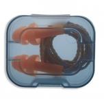 Kõrvatropid, taaskasutatavad,Uvex Whisper, paelaga hoiukarbis. Oranz. SNR: 23dB/ 1 paar