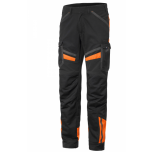 Teknik püksid stretš, must/oranz, C54