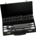 Otsakute kmpl 49 osa XZN, Torx, Hex, 30mm, 75mm ja 200mm adapteriga 10mm saba, kohvris Irimo